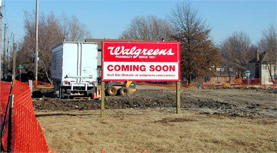 Walgreens Site Sign Install