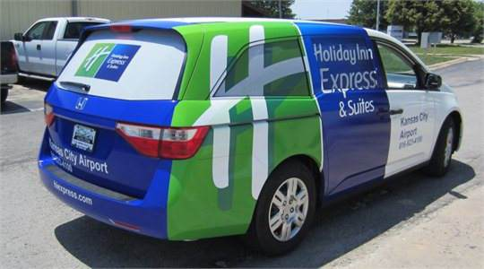 Holiday Inn Mini Van Wrap