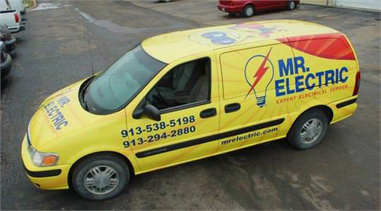 Mr Electric Mini Van Wrap