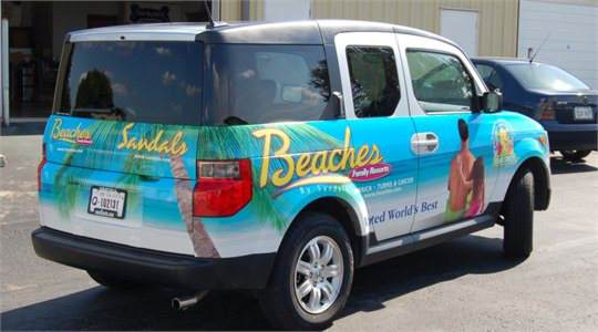 Sandals Honda Element Wrap