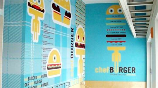 Chef Burger Wall Mural