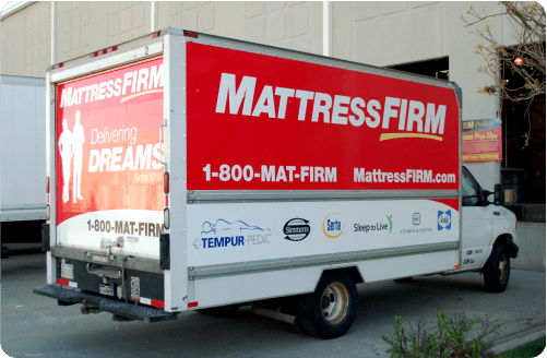 Mattress Firm Box Truck Wrap